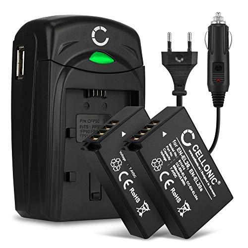 CELLONIC 2X Batería Compatible con Blackmagic Pocket Cinema Nikon 1 AW1 1 J1 J2 J3 1 S1 1...
