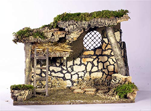 Hut 33X18X24CM Empty for Traditional Classic Nativity Scene