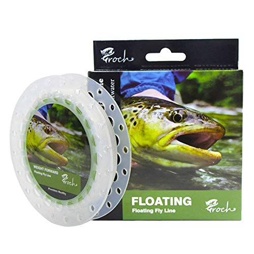 Croch Weight Forward Fly Fishing Line WF 3F 4F 5F 6F 7F 8F 100ft (Moss Green) + Backing + 9ft Leader