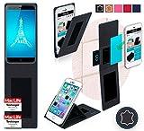 Hülle für Ulefone Paris Tasche Cover Hülle Bumper | Schwarz Leder | Testsieger