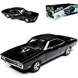 Greenlight Dodge Charger R/T Dom´s Muscle Cars Coupe Schwarz Fast and Furious 7 1970 1/18 Modell Auto