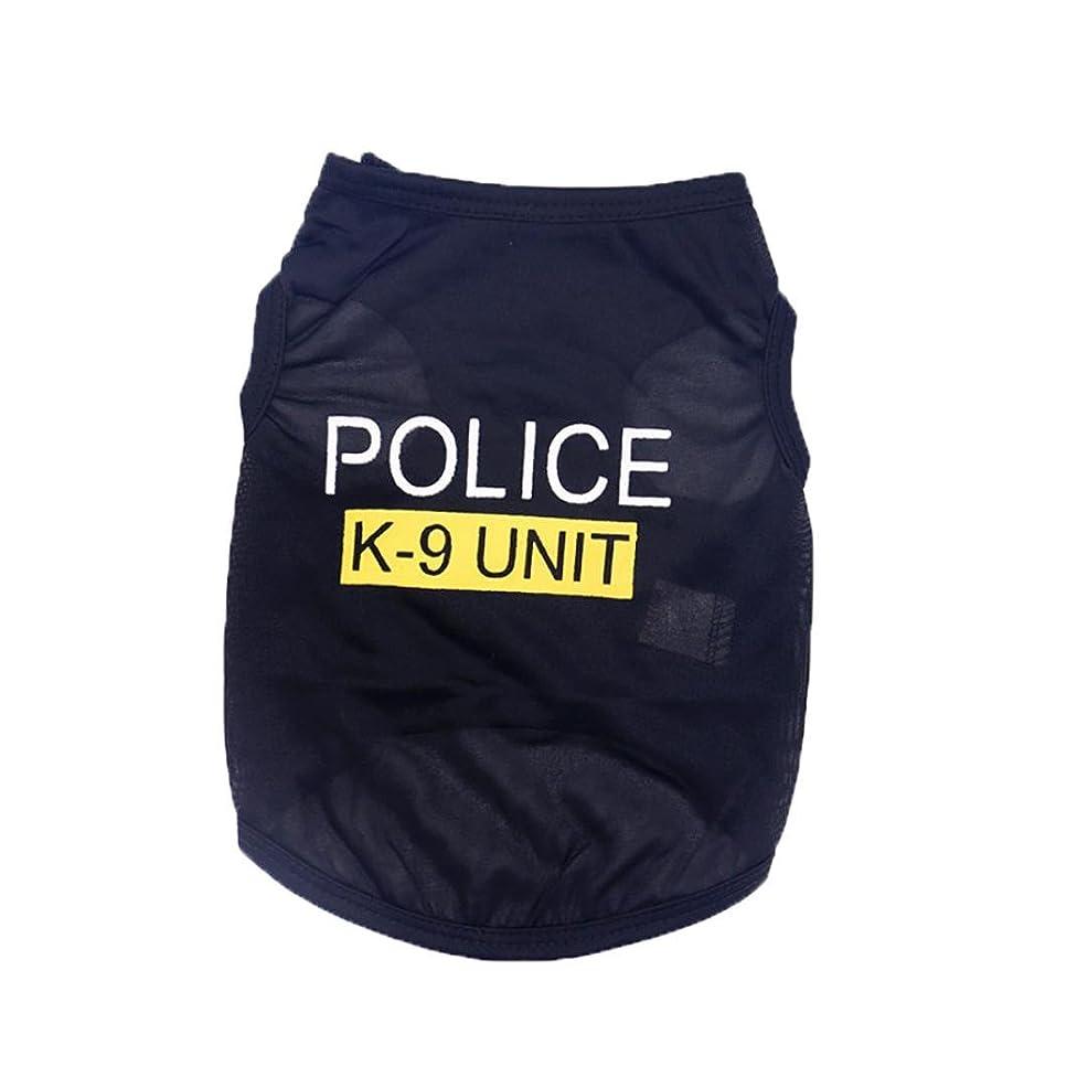 Wakeu Pet Shirt Small Dog Cat Clothes Puppy Police K-9 Unit Pattern Vest T-Shirt Pet Summer Apparel