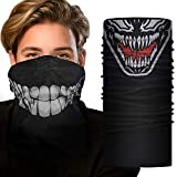 Seamless Tube Mask 2 Pieces Xpassion Windproof Dust-proof Motorcycle Face Mask for Out Riding Motorcycle Bicycle Bike Fishing Hiking