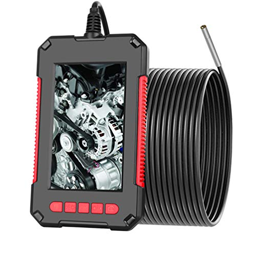 ULTECHNOVO Borescope Camera Industrial Endoscope Inspection Waterproof Hd 1080P Snake Camera Screen for Sewer Drain Car Air Conditioner Engine Checking Repair 2M