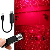 Plug and Play-Car and Home Ceiling Romantic USB Night Light (Red)