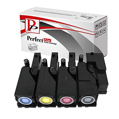 PerfectPrint Kompatibel Toner Patrone Ersetzen für Dell C1660 C1660W C1660DW C1660CN (Schwarz/Cyan/Magenta/Gelb, 4-pack)