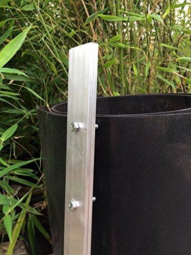 Pflanzenfuchs® Verschlußleiste Wurzelsperre HDPE Folie Rhizomsperre Bambussperre (70cm)