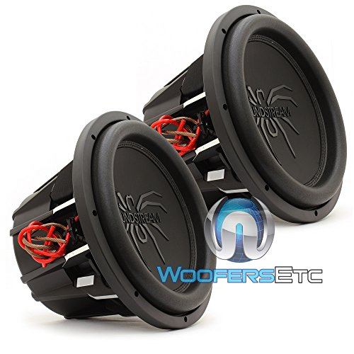 Soundstream T5.122 Tarantula T5 12 Inch 2000W Max 2 Ohm DVC Subwoofer (2 Pack)