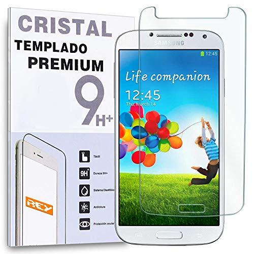 REY Protector de Pantalla para Samsung Galaxy S4 Cristal Vidrio Templado Premium