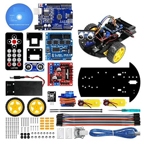 Smart Robot Car 2WD Chassis Kit with Ultrasonic Module. Remote Control for Arduino for UNO DIY Kit
