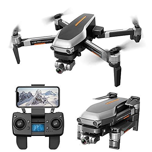 DCLINA Droni GPS con Fotocamera 4K, Video Live FPV WiFi a 5 GHz con stabilizzatore Meccanico a Due Assi, Posizionamento del Flusso Ottico, Volo a 1200 Metri, 2 batterie