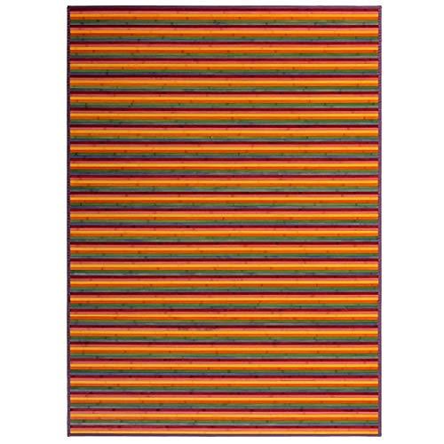 HOGAR Y MAS Alfombra BAMBÚ Rayas Multicolor 180X250
