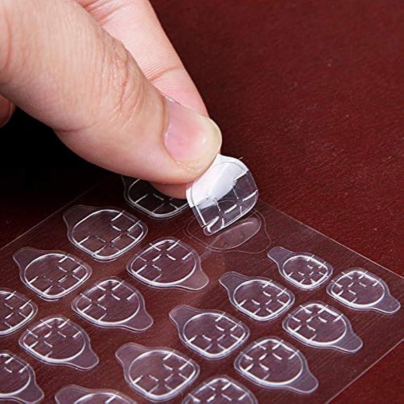 アクセシブル硬さフローDC 防水 両面 強い粘着力 マニキュア ネイルチップの 粘着テープ ゲルテープ 透明 ゼリー アイテム ステッカー ネイル接着剤