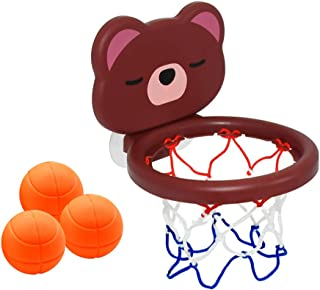 TOYANDONA 1 Set Bath Toys Bathtub Basketball Hoop Balls Set for Toddlers Kids with Suction Cup Fun Games Gifts in Bathroom