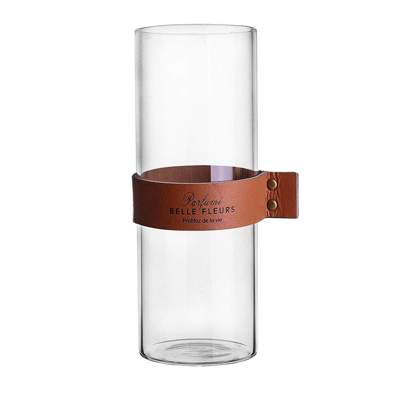 明るくするもう一度コピーガラス花瓶 ガラスフラワーベース シンプル花器 北欧風花瓶 Fukukaガラスボトル 水耕栽培 インテリア飾り 北欧雑貨 記念日 プレゼント 大きい花瓶 (23CM ブラウン)