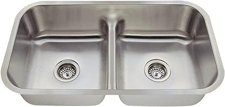 512 16-Gauge Undermount Low-Divide Stainless Steel Kitchen Sink