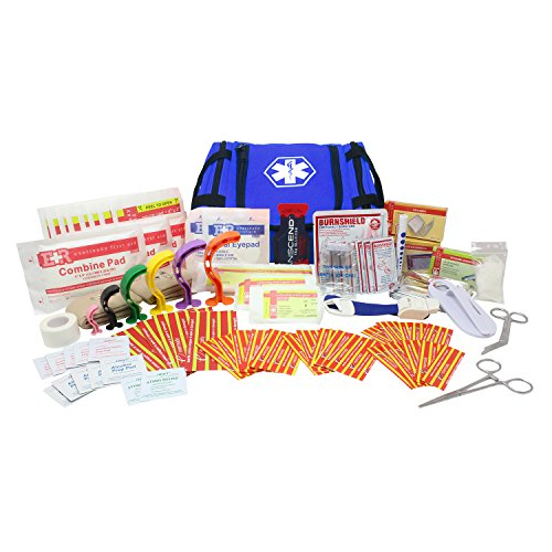 Dixie EMS First Responder Fully Stocked Trauma First Aid Kit – Blue