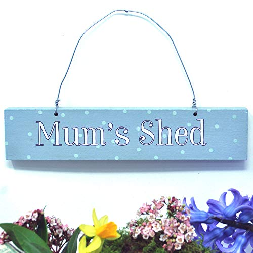 Angelic Hen Mum's Shed Outdoor Hanging Sign