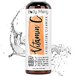 Vitamin C Exfoliating Cleanser- Daily Anti-Aging Face Wash w 10% Vitamin C to Unclog Pores & Deep Clean Dirt, Oil & Grime