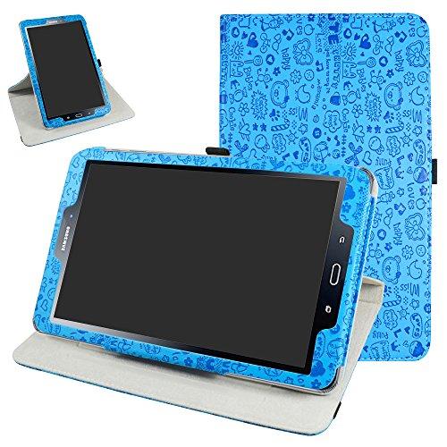 """TAB A 10.1 2016 Rotación Funda,Mama Mouth 360° Rotación PU Cuero Con Soporte Funda Caso Case para 10.1"""" SAMSUNG GALAXY TAB A 10.1 T580N T585N Android Tablet 2016,Azul"""