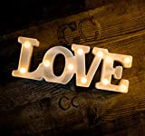 MUMUXI LED Marquee Lights Love Shaped LED Plastic Light Up Sign for Night Light Wedding Birthday Party Battery Powered Christmas Lamp Home Bar Decoration
