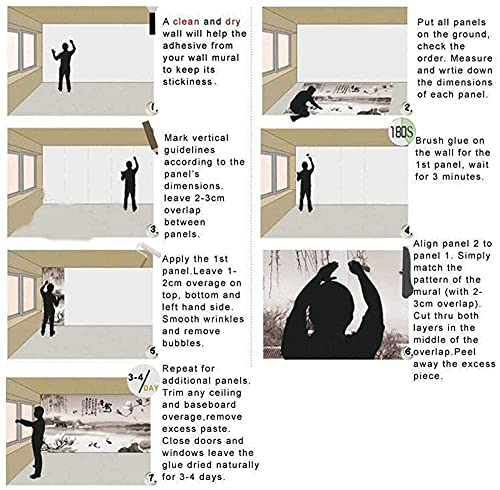 FTFTO Equipo para el hogar Papel Tapiz Mural Londres Big Ben Edificio Paisaje 3D Sala de Estar Sofá TV Imagen de Fondo Papel Tapiz Decoración para el hogar-250X175cm