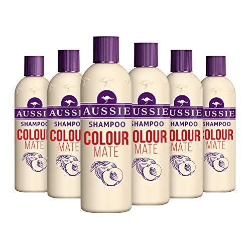 Aussie Color Mate Shampoo voor levendig, gekleurd haar, 500 ml, pak van 6