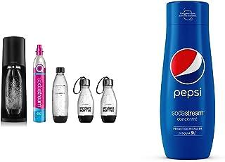 Sodastream Pack avec Machine à Eau Pétillante et Soda Terra Noire, 1 Bouteille + Sodastream Concentré Pepsi – 100% du Goût...