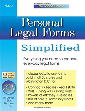 Personal Legal Forms Simplified by Daniel Sitarz (2003-12-16)
