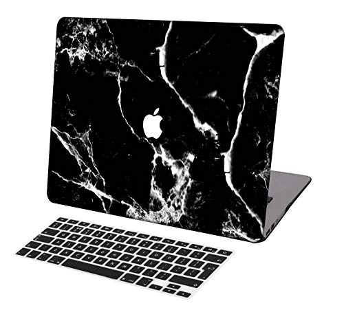 Laptop Case for MacBook Pro 13 inch Retina Model A1425/A1502,Neo-wows(2 in 1 Bundle) Plastic Ultra Slim Light Hard Shell Cover UK Keyboard Cover Compatible MacBook Pro 13 inch No CD ROM,Marble A 106