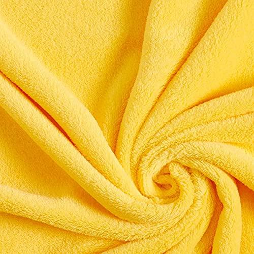 Kuschelfleece – hellgelb — Meterware ab 0,5m — zum Nähen von Decken, Tagesdecken & Nachtwäsche/Homewear