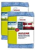 ALCLEAR 820203K_2 2er Set Mikrofasertücher für Hochglanzküchen, Microfaser Küchentuch, Geschirrtuch Küche, 40x40 cm