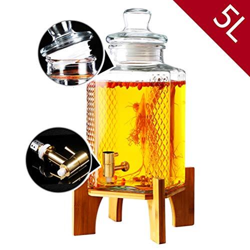 Hyxqyjp drankjestoevoer, druppelvrij metaal spigot zegelring glazen deksel, bier saptoevoer voor limonade/thee/koud water