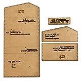 AUBERSIT Paquete de tarjetas de bricolaje Estuche para tarjetas de visita Herramienta de billetera, Plantilla de acrílico, Bolsa de cuero hecha a mano