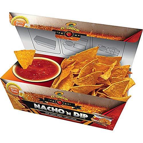 6 Boxen Nacho n Dip Salsa Chili Nachos mit Salsa Dip a 175g