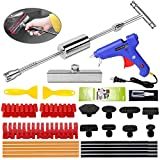 YOOHE Car Dent Puller - 28pcs Paintless Dent Repair Kit, Dent Puller Kit with T-bar Slide Hammer dent Puller and Thickened Dent Puller Tabs for Repair Car Body Hail Dent Removal
