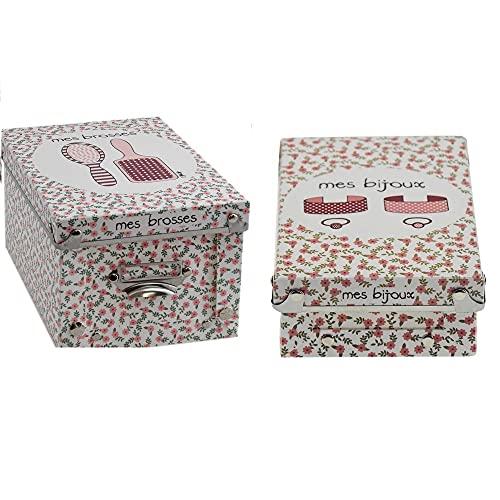 Incidence - Set di 2 contenitori con coperchio per pennelli e gioielli