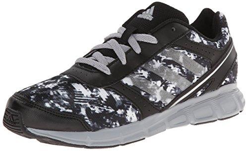 adidas Performance Hyperfast Running Shoe (Little Kid/Big Kid),Black/Mid Grey/Silver ,11.5 M US Little Kid