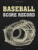 Baseball Score Record: Games Scorekeeping Handbook | Baseball Ball and Glove Elegant Graphic Design (Baseball Score Journal)