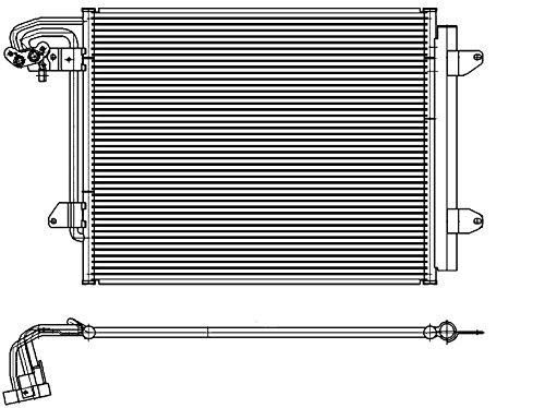 BEHR HELLA SERVICE 8FC 351 301-054 Kondensator, Klimaanlage