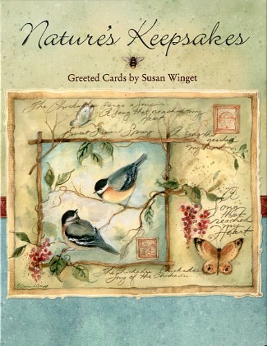 Nature's Keepsakes Greeted Assortment By Susan Winget - 12 Note Cards with Full-color Interiors and Designed Envelope