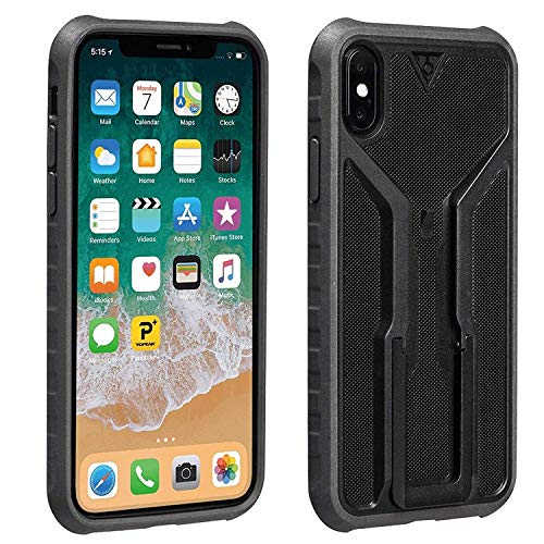 Topeak RideCase Only, Works with iPhone XR, Black/Gray, tragbare Freizeit- und Sporttasche, für Erwachsene, Unisex, Mehrfarbig (schwarz/grau), 15,5 x 8,2 x 1,53 cm
