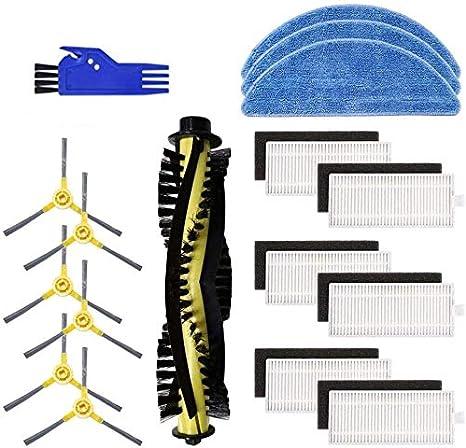 4 fregonas cepillo de herramienta de limpieza Yooria Kit de accesorios de repuesto para aspiradora IKOHS netbot S15 6 cepillos laterales 6 filtros paquete de 1 cepillo principal
