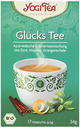 Yogi Tea Glücks Tee Bio, 3er Pack (3 x 34,0 g)