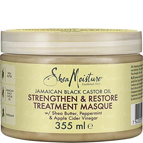Shea Moisture Haarmaske zur Stärkung und Regeneration, jamaikanisches schwarzes Rizinusöl, 340g
