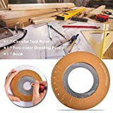Corwar Kreiszeichenwerkzeug, einstellbares Drehzeichen-Kreislineal mit zweifarbigem Zeichenstift und Rekordbuch für Enthusiasten der Holzbearbeitung