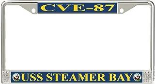 MilitaryBest USS Steamer Bay CVE-87 License Plate Frame
