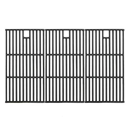 Hisencn Grill Grates for Brinkmann 810-8501, Charmglow 720-0125, Jenn Air 720-0337, Nexgrill 720-0003, Perfect Flame Gas Grill Models, 19 1 4  Cast Iron Cooking Grid Replacement Parts