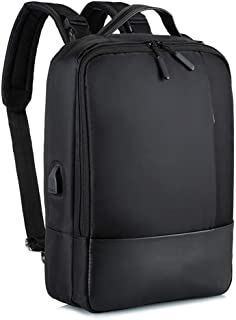 Fyuanmeiibb Backpack, Business Bag Backpack Man Various Shoulder Bag Portable USB Business (Color : Black)
