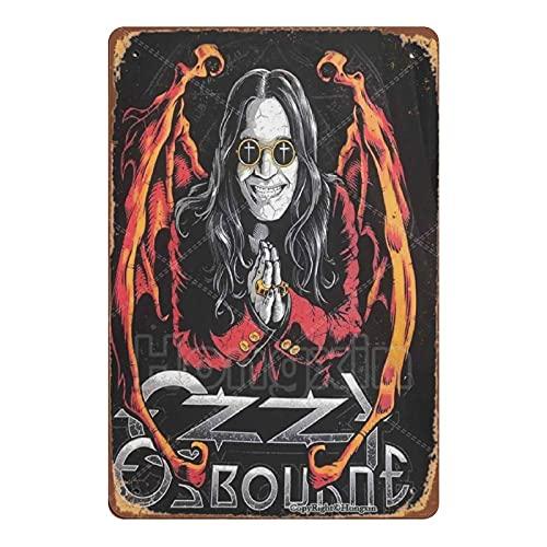 HONGXIN Ozzy Osbourne Vintage Metall Zeichen Retro Zinn Zeichen Poster Kunst Wanddekor Bar Cafe Man Cave Home 8 × 12 Zoll